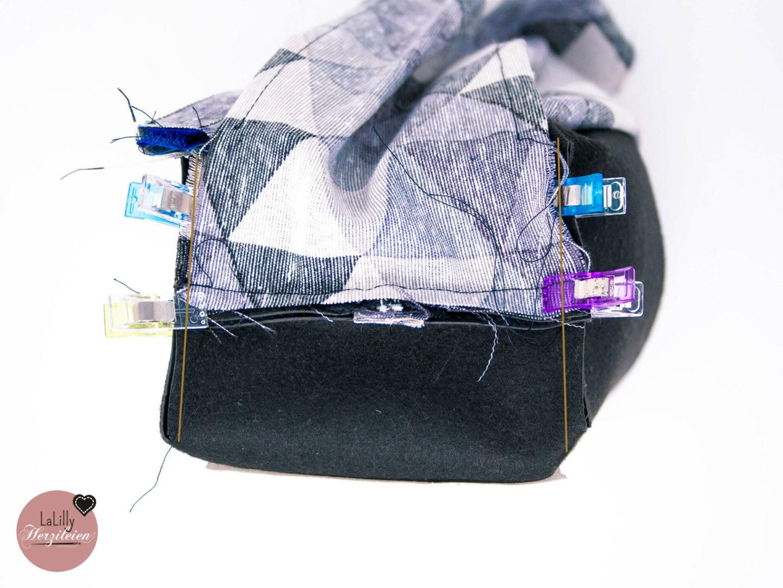 Kulturtasche nähen Ecken nähen Neceser ist eine geradlinige, schlichte Kulturtasche. Sie ist perfekt für Männer! Lass und zusammen eine Kulturtasche nähen, Anleitung gratis!