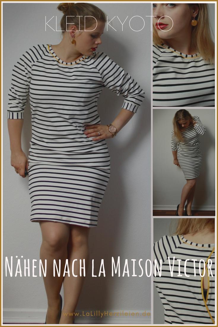 DAs Kleid Kyoto aus der la Maison Victor hat einen leichten Oversize Look und eine raffinierte Schnittführung im Rücken. Mein erster Versuch nach der Zeitschrift zu nähen war ein voller Erfolg!