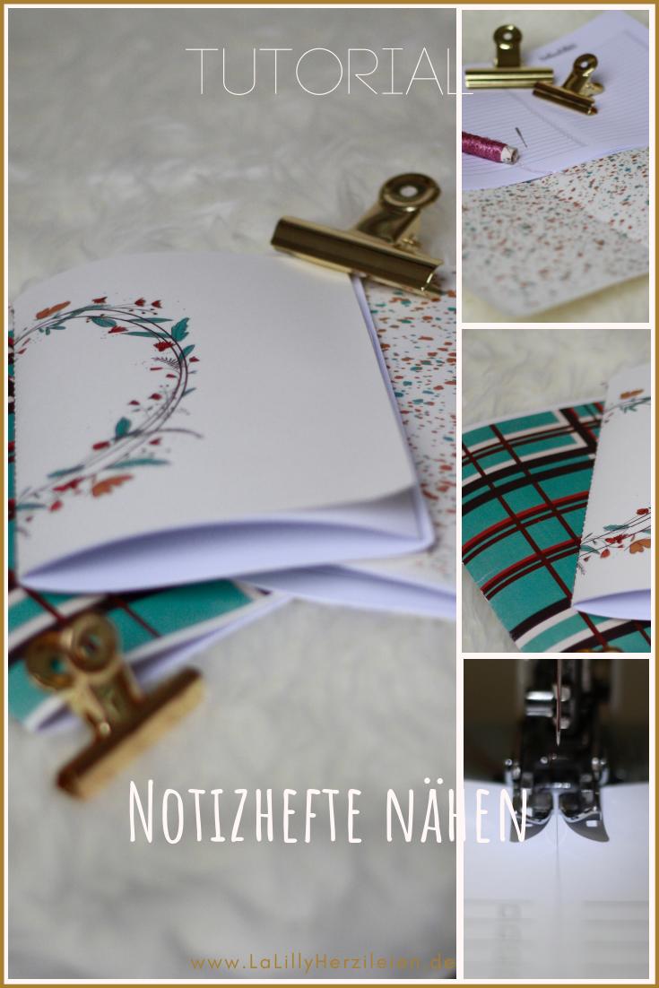 Notizhefte selbermachen ist ganz einfach: du brauchst nur schönes Papier, eine Nähmaschine und etwas Garn und hast im Handumdrehen ein tolles DIY-Geschenk