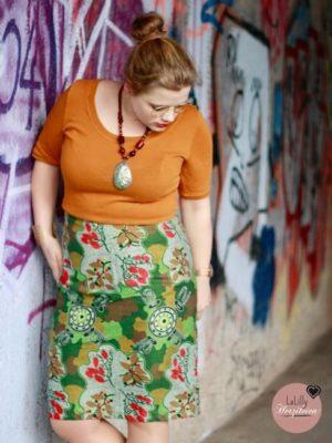 Pencil-Skirt aus Aborigines-Stoff von True Farbics