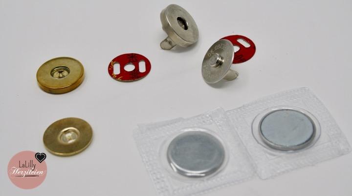 Taschenverschlüsse für selbstgenähte Taschen Teil 2 – Magnetverschlüsse