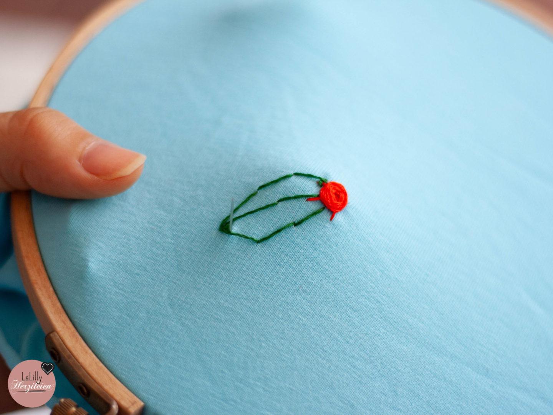Handsticken für Anfänger: Wie du mit dem Webstich dreidimensionale Rosen stickst