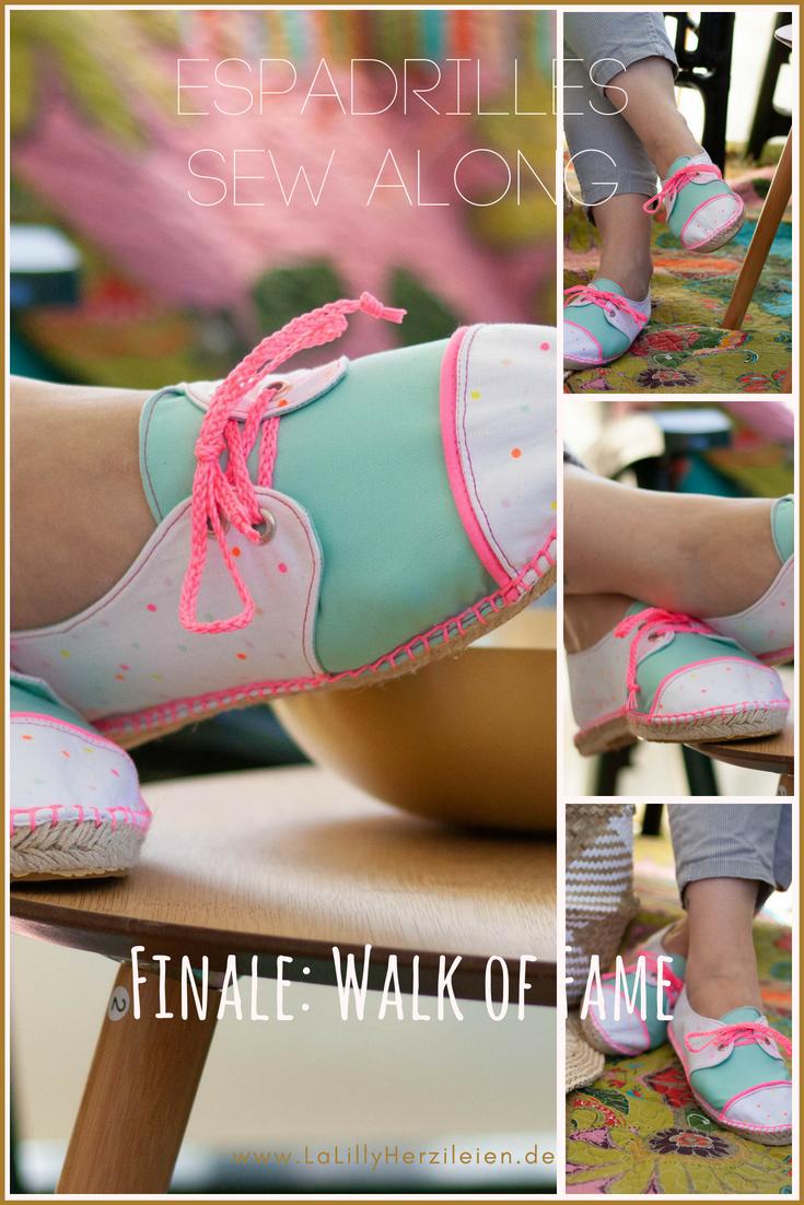Der Espadrilles Sew Along geht in die letzte LInkparty: der Espadrilles Walk of Fame mit den fertigen Werken! Zeit zum Verlinken it noch bis zum 7.7.2018!