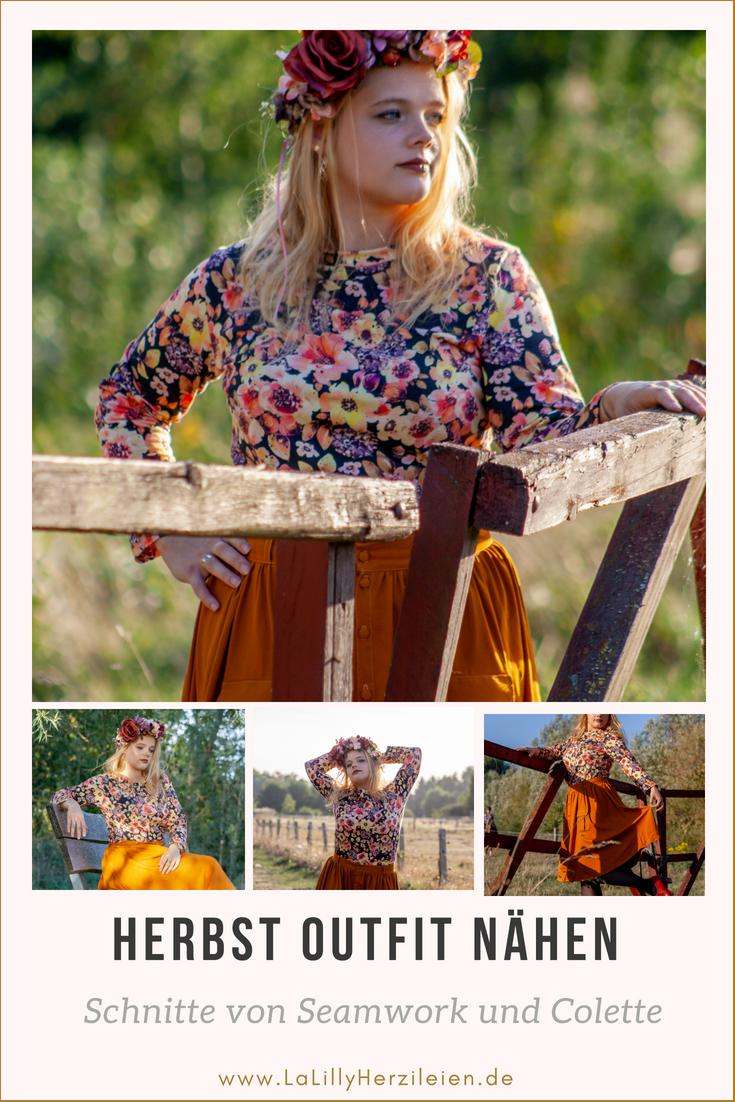 Nähe dir ein tolles herbsliches Outfit! In meinem Blogbeitrag findest du die passende Inspiration dazu!