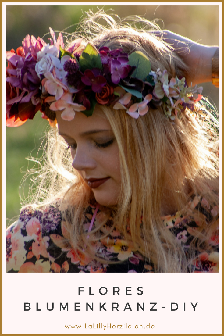 Blumenkränze sind ein zauberhaftes Accessoire für Groß und Klein. Binde deinen eigenen Blumenkranz mit der Anleitung Flores, passend zu Sommerfesten, Hochzeiten, Taufe, Kommunion oder einfach als Hippie- oder Boho-Accessoire