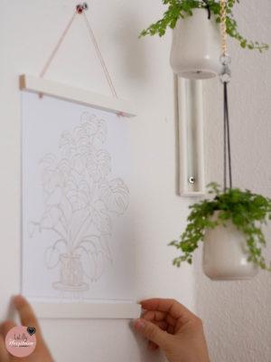 Posterleisten Basteln – kostenloses DIY Tutorial