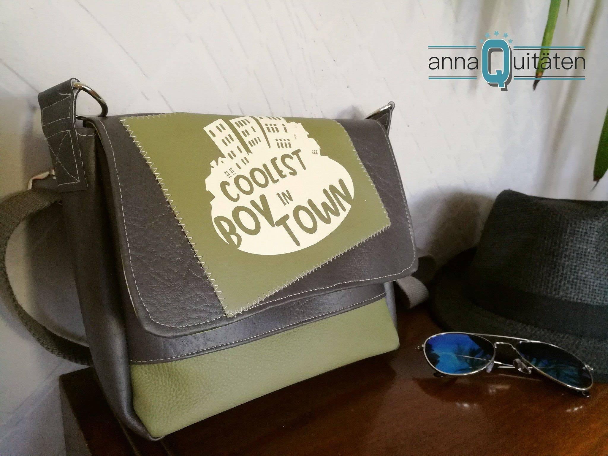 Boxbag Ysabel genäht nach der digitalen Nähanleitung von LaLilly Herzileien in der Größe Midi als Kindergarten Tasche