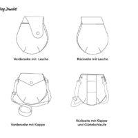 Varianten der Minibag Jonabel als Schemazeichnung