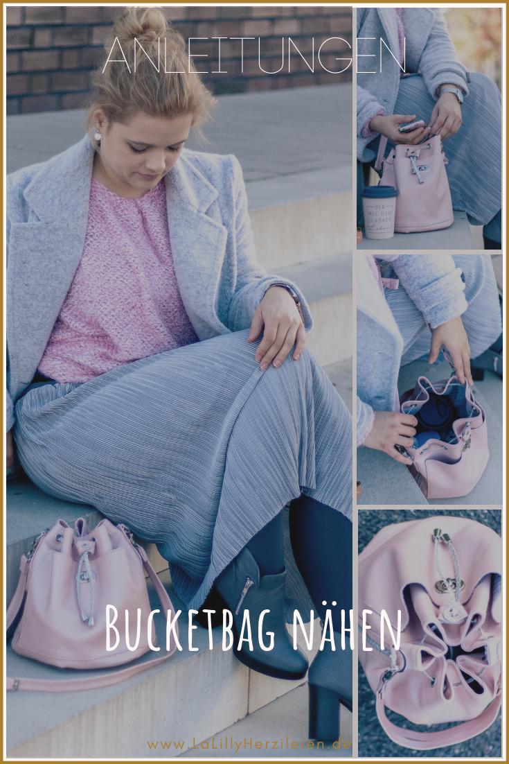Die Bucketbag Amabel besteht aus wenigen Schnittteilen, ist schnell genäht und ein echter Hingucker.