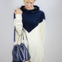 """Mit der Anleitung """"Bucketbag Amabel"""" kannst du einen Rucksack oder eine kleine Umhängetasche nähen. Das Schnittmuster ist in drei Größen enthalten."""