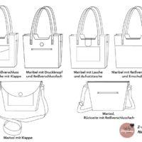 """Mit der Anleitung """"2-in-1-Bag Maribel & Marisol"""" kannst du eine Totebag und eine Crossbodybag nähen. Mit Druckknöpfen kannst du sie verbinden."""
