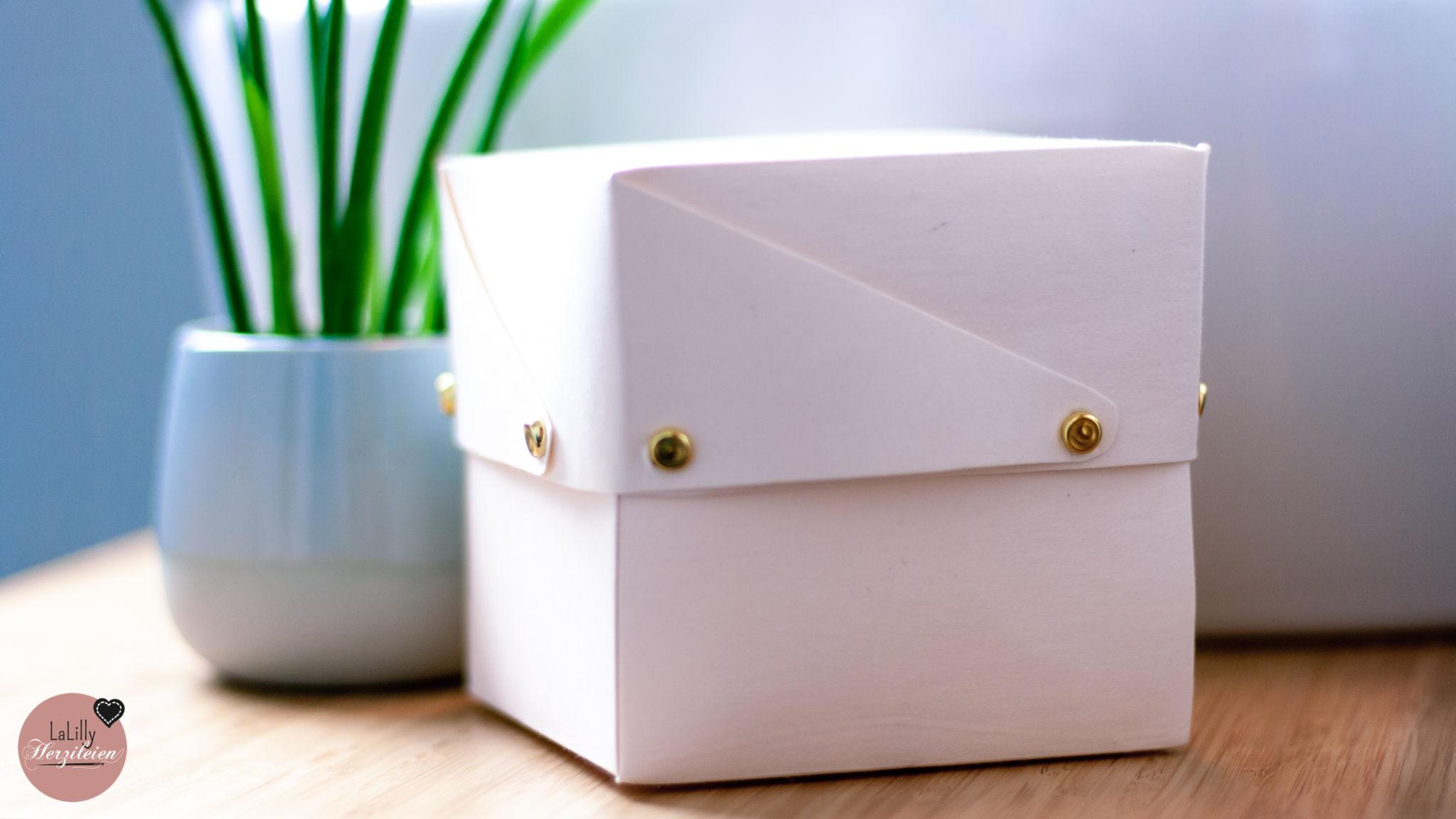Schachtel basteln – kostenlose Anleitung für die Box Caja