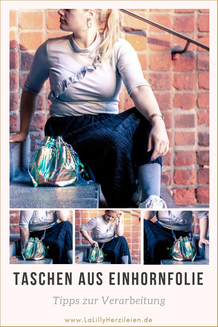 Einhornfolie ist ein Trendmaterial und Taschen aus Einhornfolie sind absolute Hingucker. Mit meinen Tipps und Tricks kannst auch du eine tolle Tasche nähen!