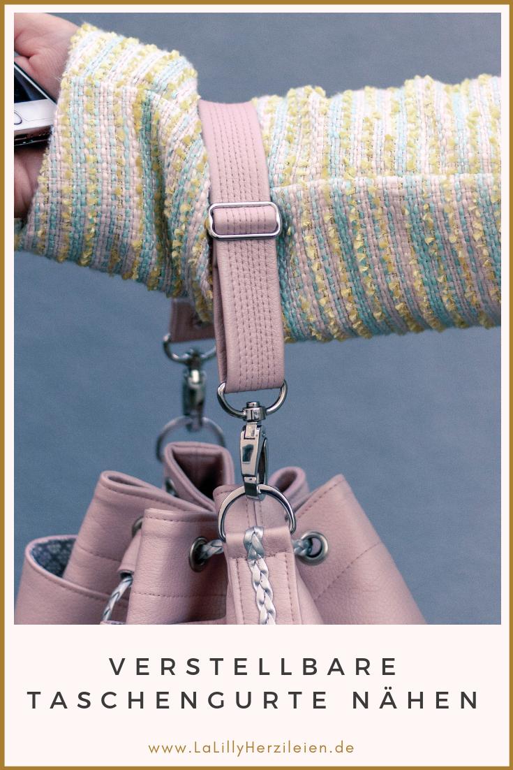 Du liebst selbstgenähte Handtaschen aber Gurtband bietet dir nicht den richtigen Look? Taschengurte kannst du ganz einfach aus Kunstleder oder Kork selber nähen. Ich zeige dir Schritt für Schritt wie es geht!