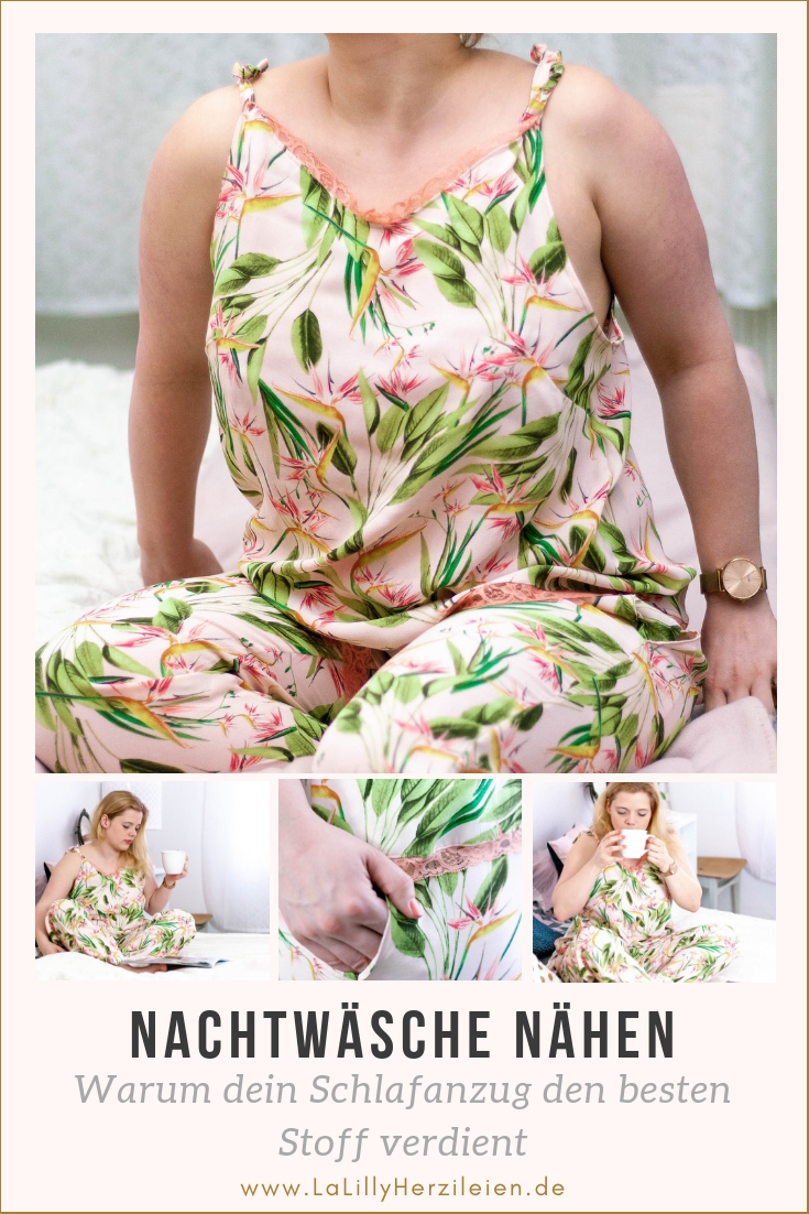 Das Fach für die Schlafanzüge gleicht in vielen Kleiderschränken einem kleinen Altkleider- Container: Löchrige Shirts, ausgebeulte Hosen - Männer wie Frauen legen selten Wert auf schöne Nachtwäsche. Ich erkläre dir, warum du deiner Schlafgarderobe mehr Wertschätzung entgegenbringen solltest und habe einige Schnittmuster für dich im Gepäck, mit denen du schöne Nachtwäsche nähen kannst! #Schlafanzugnaehen 'Schlafanzug #nachthemd #Nachtwäsche #sleepwear