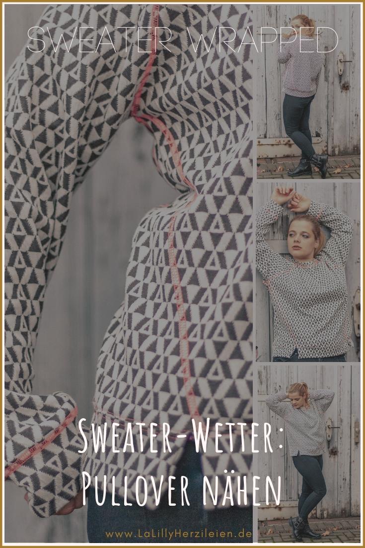 Willst du einen Pullover nähen? Ein Sweatshirt zu nähen ist ganz einfach wenn du ein gutes Schnittmuster hast. Ich zeige dir Bilder von meinem Sweater wrapped von Schnittduett