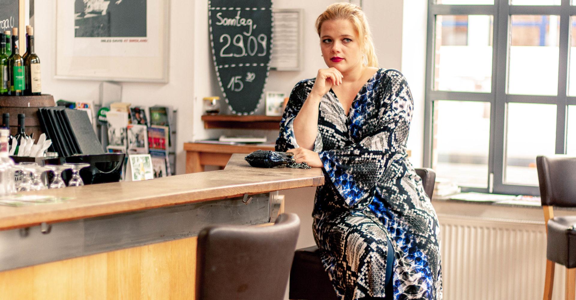 Kleid aus Jersey nähen – Patternhack zum Kimonokleid Ainhoa