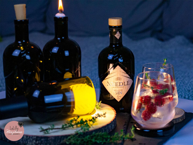 Anzeige Drei Ideen Zum Basteln Mit Glasflaschen Mit Needle Gin