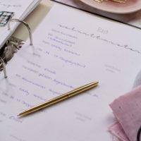 Stift auf Nähplaner - Stashplan