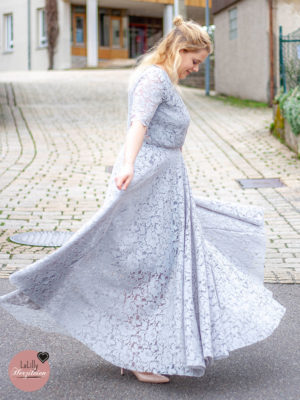 Hochzeitsgast-Kleid nähen – Glamdress von Sewera aus Spitze