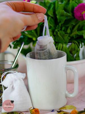 Teebeutel nähen Anleitung für Zerowaste-Teefilter