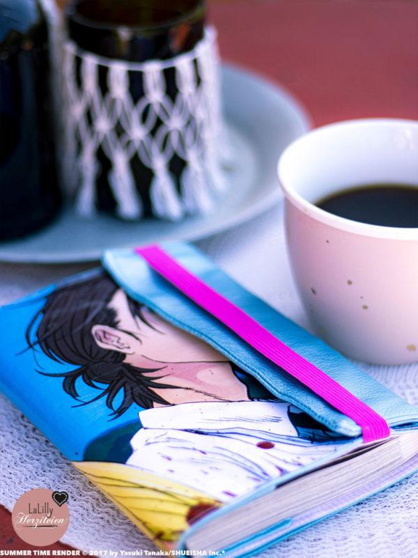 Eine Buchhülle nähen, mit Papier? Natürlich kannst du el tocho auch nur aus Stoff oder Kunstleder anfertigen. Ich habe ein Manga Poster Upcycling gemacht!