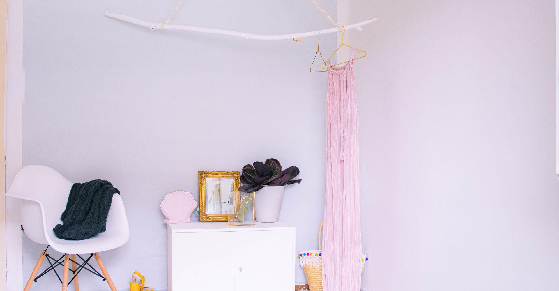 Wand mit Farbverlauf streichen – Makeover fürs Ankleidezimmer