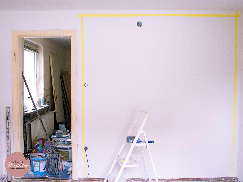 Wand mit Farbverlauf streichen – Abkleben zur Vorbereitung