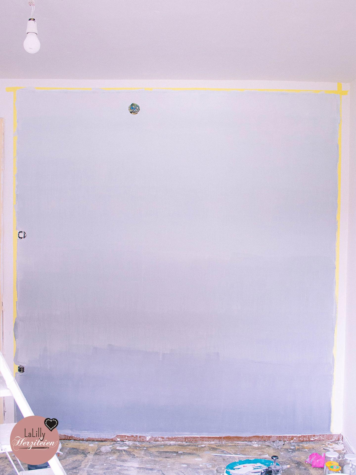 Wand mit Farbverlauf- Zwischenergebnis
