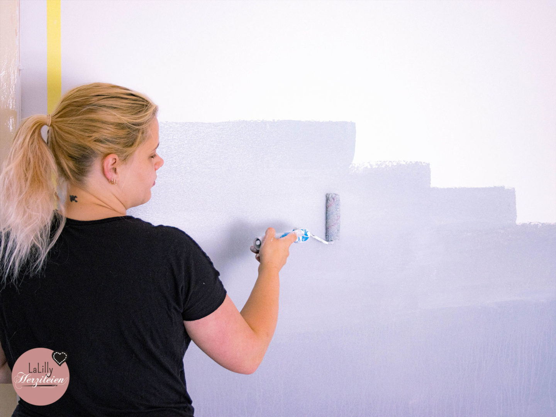 Wand mit Farbverlauf streichen erste Schritte