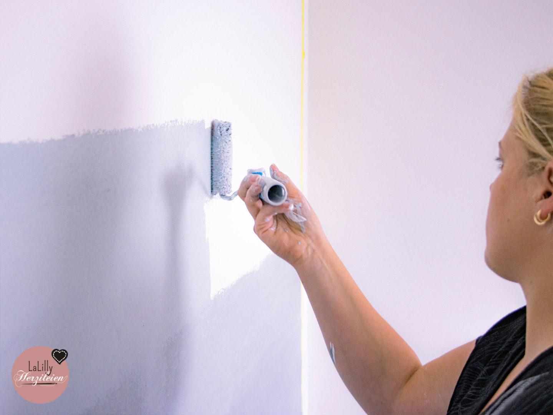 Wand mit Farbverlauf streichen