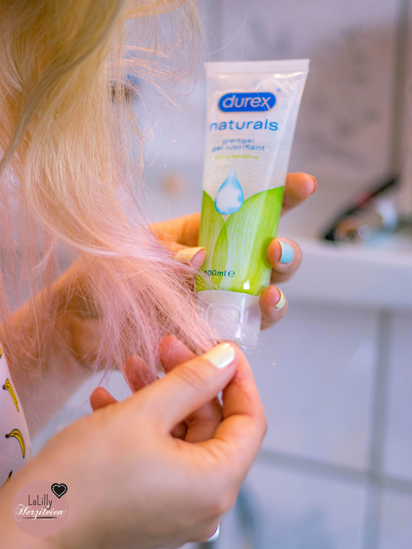 Durex Gleitgel gegen Trockene Haarspitzen