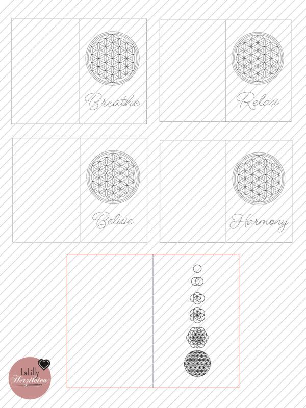 Sketch&Cut Datei Blume des lebens