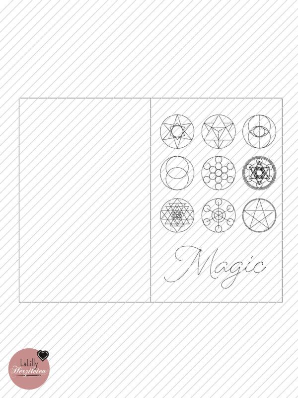 Plotterdatei Klappkarte heilige geometrie magic