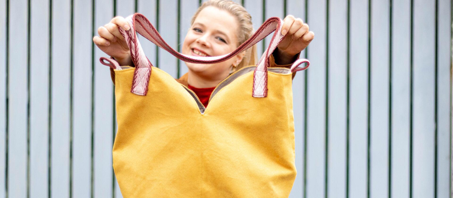 Anzeige: Elisabel Shopper nähen – Anleitung kostenlos